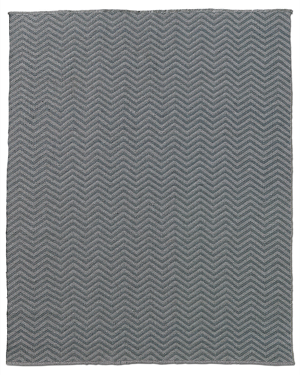 Chevron Flatweave Outdoor Rug - Silver/Charcoal