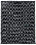 Chevron Flatweave Outdoor Rug - Charcoal/Fog