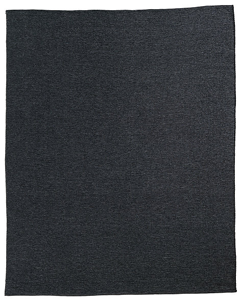 Striated Basket Weave Outdoor Rug - Charcoal