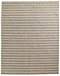 Hand-Knotted Awning Stripe Flatweave Outdoor Rug - Sand