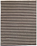 Hand-Knotted Awning Stripe Flatweave Outdoor Rug - Mocha