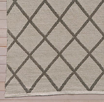 All-Weather Recycled Diamond Outdoor Rug Swatch - Latte/Mocha