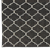 Hand-Knotted Moroccan Tile Flatweave Outdoor Rug Swatch - Mocha/Ivory
