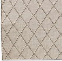Hand-Knotted Moroccan Diamond Flatweave Outdoor Rug Swatch - Sand