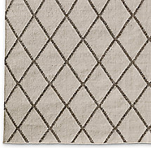 Hand-Knotted Moroccan Diamond Flatweave Outdoor Rug Swatch - Mocha