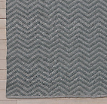 Chevron Flatweave Outdoor Rug Swatch - Silver/Charcoal