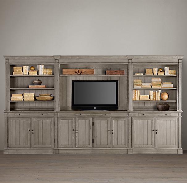 Restoration Hardware Entertainment Center: Cabin Plans Loft Design, Wood Bed Frame, Entertainment