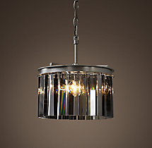 Rhys Smoke Glass Prism Round Chandelier 12""
