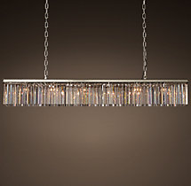 Rhys Clear Glass Prism Rectangular Chandelier 71""