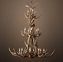 Adirondack Antler Three-Tier Chandelier