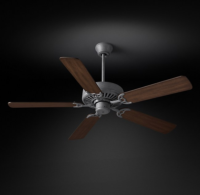 Bistro ceiling fan galvanized steel mozeypictures Images