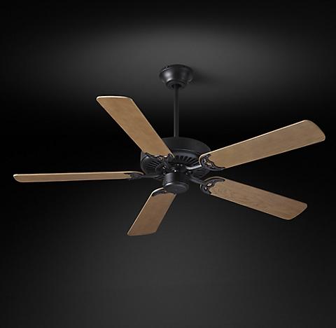 Ceiling fans rh bistro ceiling fan vintage black mozeypictures Images
