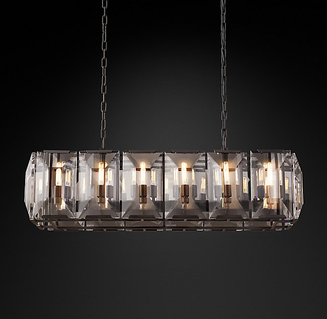 Harlow crystal rectangular chandelier 42 aloadofball Image collections