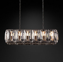 Harlow Crystal Rectangular Chandelier 42""