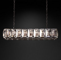 Harlow Crystal Rectangular Chandelier 62""