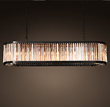 Welles Clear Crystal Rectangular Chandelier 71""