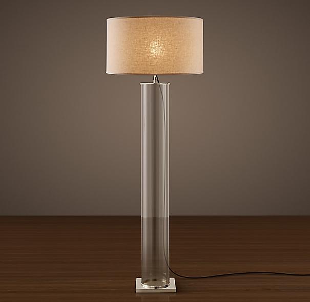Classic Glass Column Floor Lamp