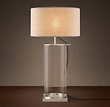 Classic Glass Column Table Lamp