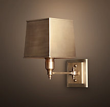 Claridge Single Sconce With Metal Shade
