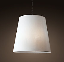 Sheer Linen Barrel Pendant