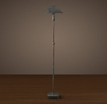Pyramid Telescoping Floor Lamp with Metal Shade