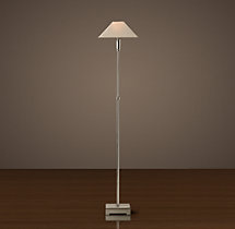 Pyramid Telescoping Floor Lamp with Linen Shade