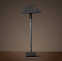 Pyramid Telescoping Table Lamp With Metal Shade