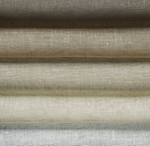 Sheer Belgian Linen Roman Shade Swatch