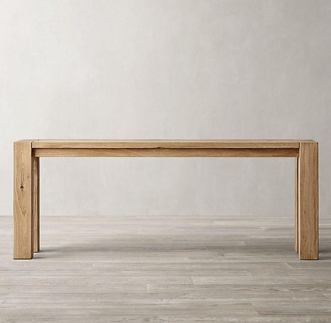 Reclaimed Russian Oak Parsons Console Table
