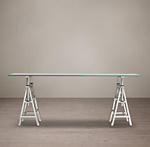 Industrial Sawhorse Console