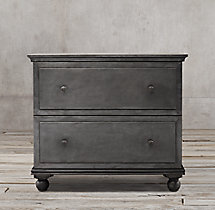 Annecy Metal-Wrapped 2-Drawer Wide File Cabinet