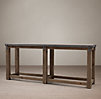 Reclaimed Wood Amp Zinc Top 80 Quot Console Table