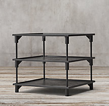 "20th C. European Factory Metal 28"" Side Table"