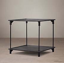 "20th C. European Factory Metal 20"" Side Table"