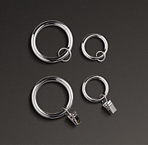 Drapery Rings (Set of 7) - Polished Nickel