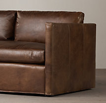 6' Belgian Classic Shelter Arm Leather Sofa