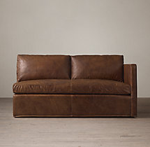 Belgian Classic Shelter Arm Leather Right-Arm Sofa