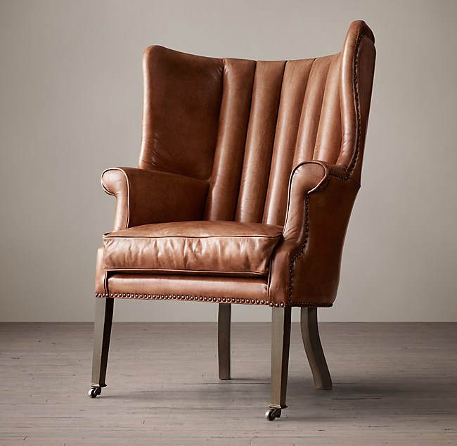 warwick leather wingback chair - Leather Wingback Chair