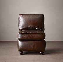 Petite Lancaster Leather Armless Chair