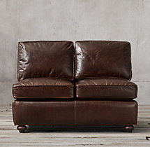 Petite Lancaster Leather Armless Sofa