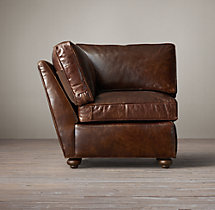 Petite Lancaster Leather Corner Chair