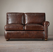Petite Lancaster Leather Right-Arm Sofa