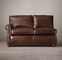 Petite Lancaster Leather Left-Arm Sofa