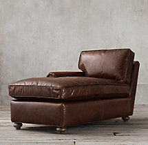 Petite Original Lancaster Leather Left-Arm Chaise