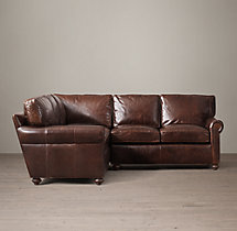 Preconfigured Petite Classic Lancaster Leather Corner Sectional