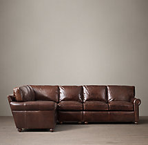 Preconfigured Petite Lancaster Leather L-Sectional