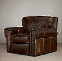 Classic Lancaster Leather Swivel Chair