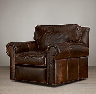 Original Lancaster Leather Swivel Chair