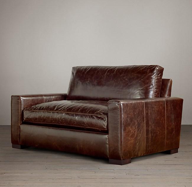 5' Petite Maxwell Leather Sofa