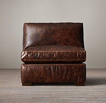 Petite Maxwell Leather Armless Chair